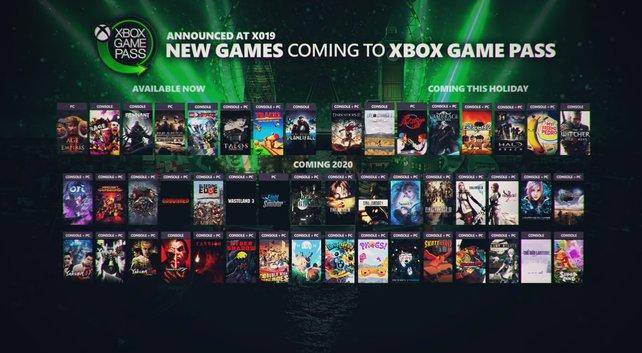 All diese Spiele werden in den nächsten Wochen und Monaten zum Xbox Game Pass hinzugefügt.
