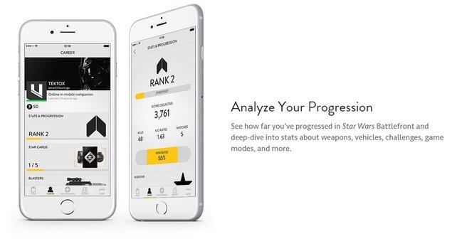Euer Smartphone liefert euch Details zu Level, Statistiken und Ausrüstungen.