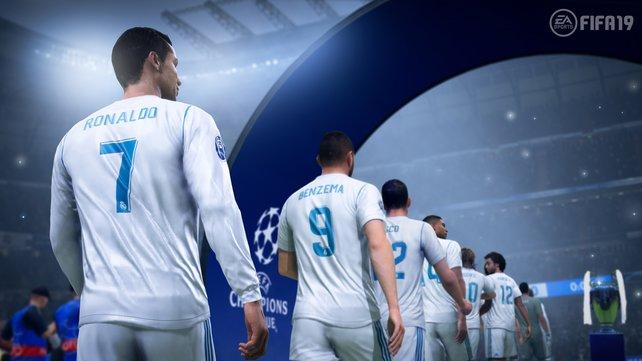 In der Verkaufsversion trägt Cristiano Ronaldo natürlich das Trikot von Juventus Turin.