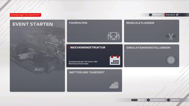 In Grand Prix und im Online-Modus müsst ihr die Wochenendstruktur ändern.