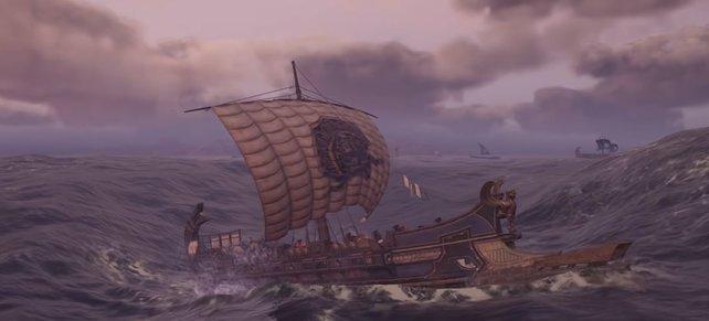 Ihr wollt eurem Schiff eine Verbesserung verpassen? Dann sammelt reichlich antike Tafeln ein!
