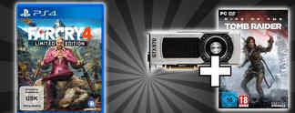 Deals: Schnäppchen des Tages: Far Cry 4, GeForce-Grafikkarten mit Tomb Raider gratis