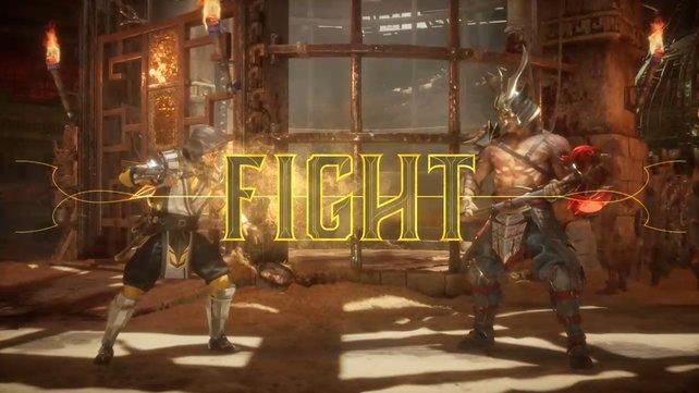 Der Kampf zwischen Scorpion und Shao Kahn kann beginnen.