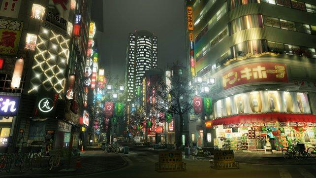 Die Darstellung einer japanischen Großstadt sieht nach wie vor faszinierend aus.
