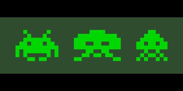 Space Invaders: Die einfachsten Formen sind oft die unvergesslichsten.