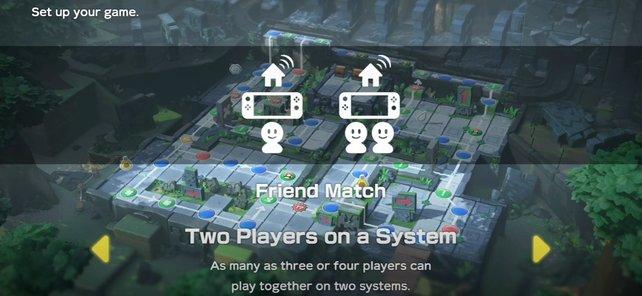 """Perfekt für """"2-gegen-2"""": Ihr könnt sogar online spielen, wenn ihr zu zweit an einer Konsole sitzt."""