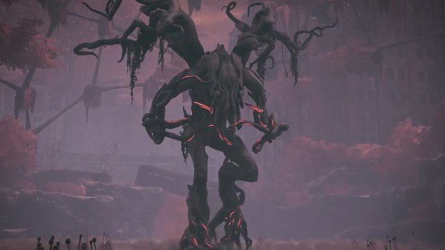 Dieser Bossgegner nennt sich Ent. Der Name ist identisch mit dem der Baumwesen  aus Der Herr der Ringe.