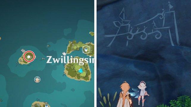 Die Karte zeigt euch den Fundort der vierten Wandmalerei.