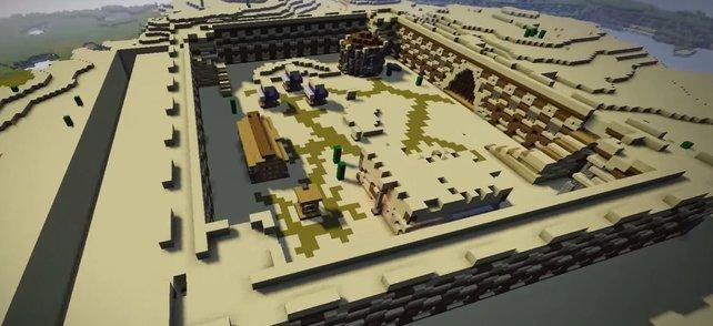 Minecraft Spieler Entwirft Eine Burg Die Sich Selbst Baut - Minecraft pferde spiele kostenlos
