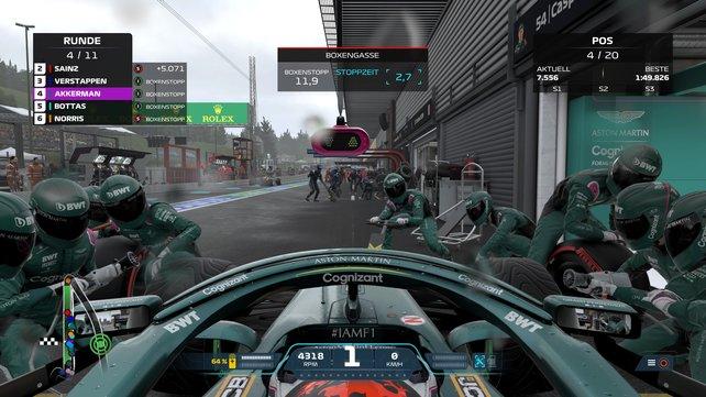 Erhöht die Rennlänge in F1 2021, wenn ihr während des Rennens Boxenstopps planen wollt.