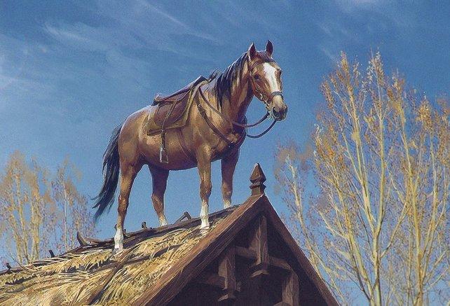 Das durch Bugs bekannte Pferd Plötze hat einen vieldeutigen englischen Namen.