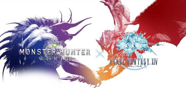 Monster Hunter - World X Final Fantasy XIV: Behemoth und Rathalos tauschen die Welten.