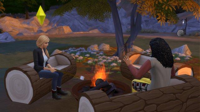 Grillt gemütlich Marshmallows am Lagerfeuer und genießt die Stille der Natur.