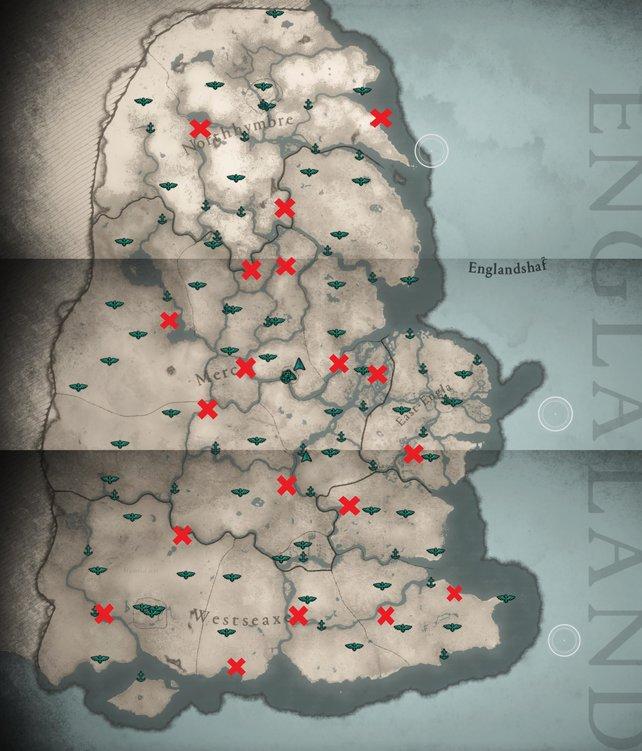 Um die gesamte Map von England in Assassin's Creed Valhalla aufzudecken, werdet ihr viel Zeit investieren müssen.