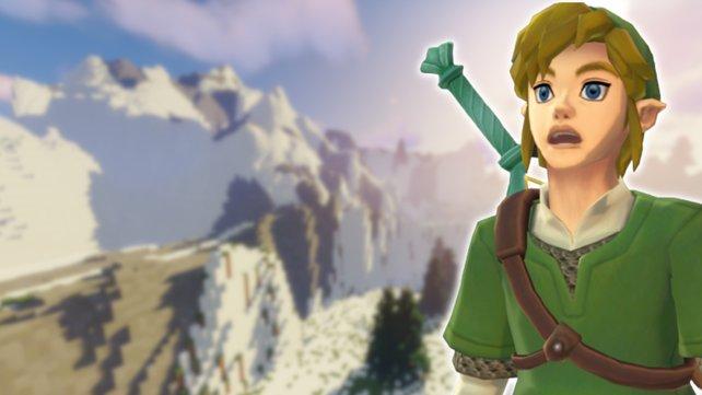 Da staunt selbst Link nicht schlecht: Beeindruckende BotW-Karte hält Einzug in Minecraft. Bildquelle: Nintendo.