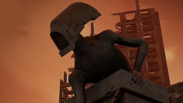 Diese böse dreinschauende Statue lässt an das Alien aus der gleichnamigen Filmreihe erinnern.