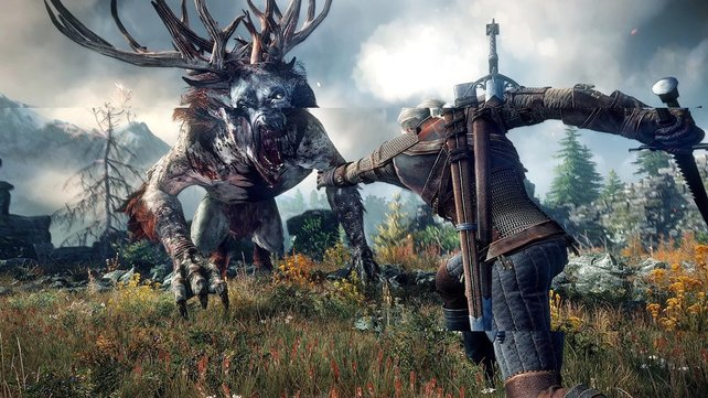 So sieht Screen Tearing in The Witcher 3: Wild Hunt aus