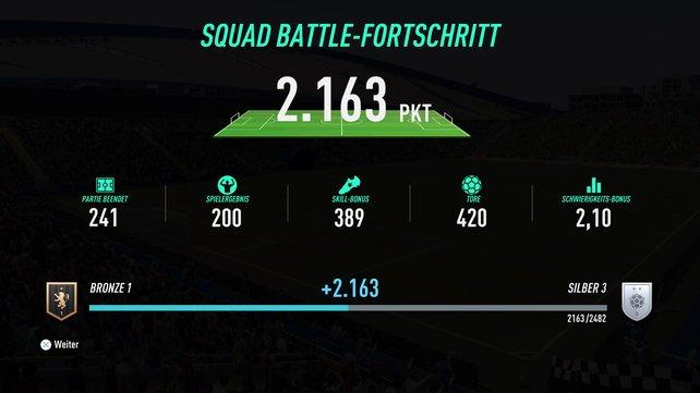Fordert ihr gute Teams heraus, werdet ihr am Ende der Partie auch mehr Punkte bekommen.