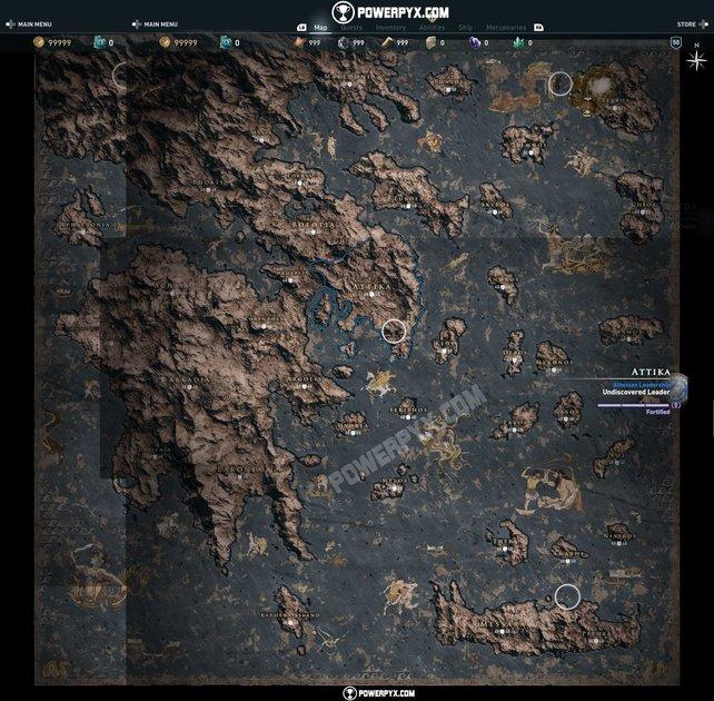 assassin s creed odyssey karte Assassin's Creed   Odyssey: Vollständige Karte der Spielwelt