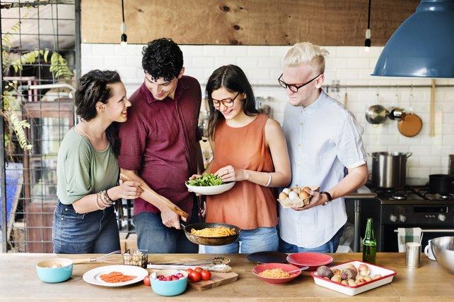 So stellen sich Werbefotografen Kochen vor.