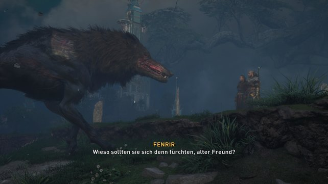 Havi will nun Fenrir entgültig festbinden, ohne aber darüber nachzudenken, ob dieser wirklich nur ein Monster ist.