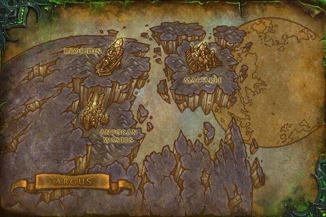 Die drei Gebiete von Argus. Wie ihr seht, schwebt Mac'Aree. Bildquelle: gamepedia.com