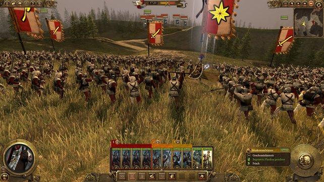 Die Infanterie freut sich auf den Kampf