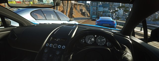 Entfernungen zu anderen Fahrzeugen lassen sich in VR viel besser einschätzen.