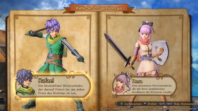 Rafael oder Resa? Einfache oder fortgeschrittene Steuerung? Ihr habt die Wahl in Dragon Quest Heroes 2.