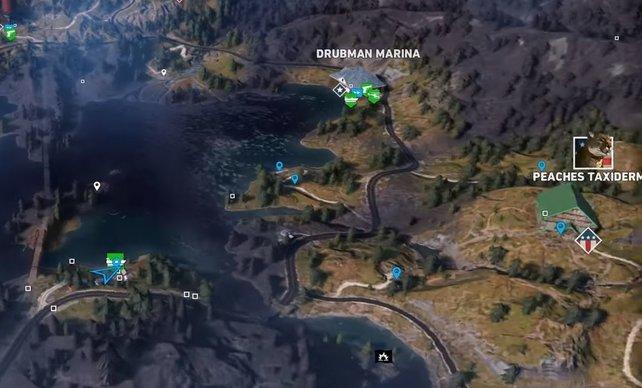 Far Cry 5 Wolfsköder Karte.Far Cry 5 Whiskey Fluss Alle Fässer Finden Und Ausschenken