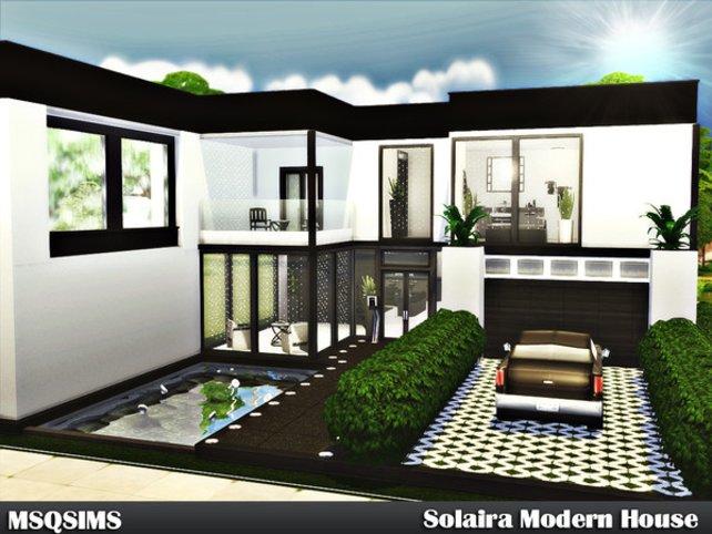 Ein sehr modernes und geräumiges Haus, welches von einer Userin namens MSQSIMS designt wurde und als Download zur Verfügung steht.