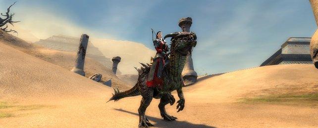 Die Reittiere in Guild Wars 2 sehen nicht nur schick aus, sondern helfen euch auch auf euren Reisen.