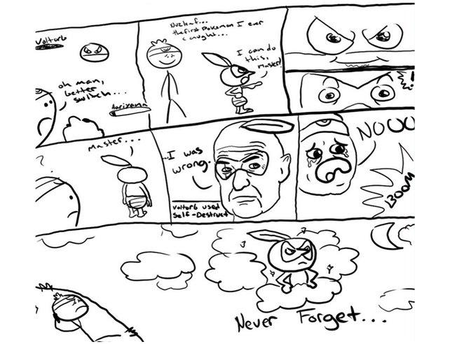 Das dramatische Ende von Blanas. Ruby wird sein erstes, selbstgefangenes Pokémon nie vergessen.