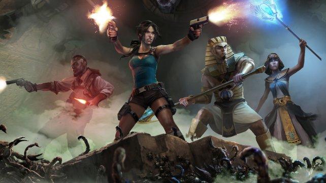 """Im Download-Spiel """"Tomb Raider - Tempel des Osiris"""" könnt ihr zusammen mit drei Freunden auf Schatzsuche gehen."""