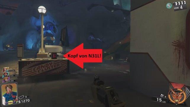 Zombies in Spaceland: Ihr müsst N31L aktivieren, um David Hasselhoff freischalten zu können.