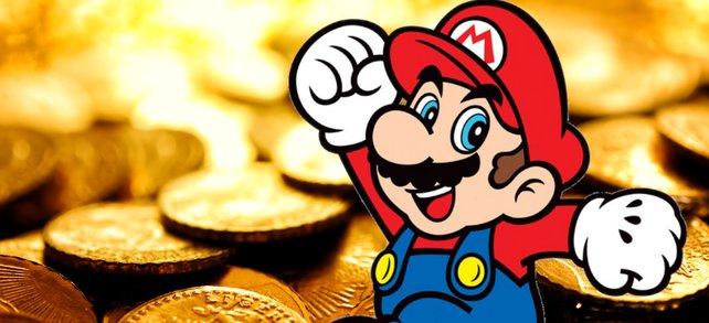 Super Mario badet in Münzen. Bildquelle: Getty Images /brightstars