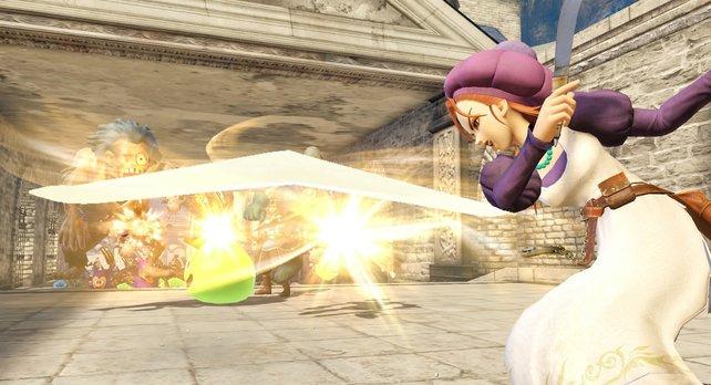 Eila kämpf mit einem Bumerang und spielt sich etwas komplizierter.