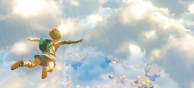 Link stürzt sich im Sequel zu Breath of the Wild aus luftigen Höhen ins Abenteuer.