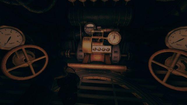 Kurz vor dem Ende des Abschnitts müsst ihr diese Maschine bedienen.