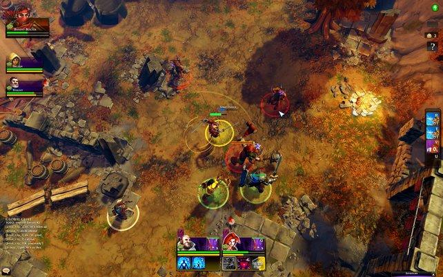 Bis zu vier Spieler greifen im Abenteuermodus gemeinsam an. Eine Versus-Option gibt es nicht!