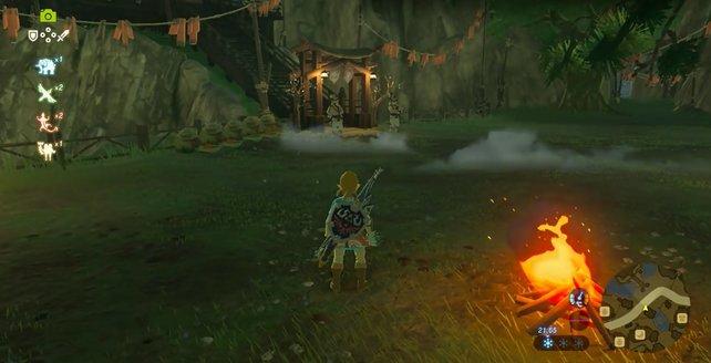Gegen 22 Uhr verlässt Dorian – rechts im Bild – seinen Posten.