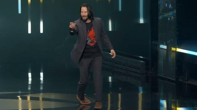 """Inzwischen zu einem Meme geworden: Der Moment, als Keanu Reeves """"You're breathtaking"""" ruft."""