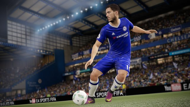 Im Gegensatz zu PES 2017, ist Chelse in FIFA 17 mit allen Daten vertreten.