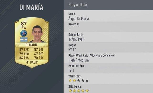Di María gehört zu den besten Fußballern Europas.