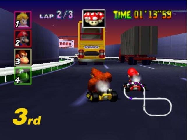 So toll Mario Kart 64 ist - es wirkt irgendwie steril, so gar nicht nach aufgekratzter Pilzkönigreich-Feierlaune.