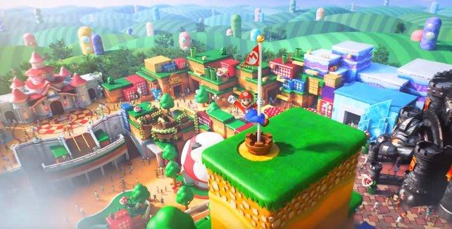 Was damals noch nur ein Trailer für den Mario-Freizeitpark war, ist jetzt Wirklichkeit.