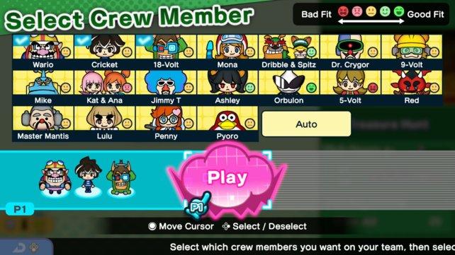 Das sind alle Charaktere, denen ihr während der Story in WarioWare: Get It Together begegnet.