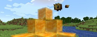 Panorama: Spieler surfen und machen Tricks auf Honigblöcken