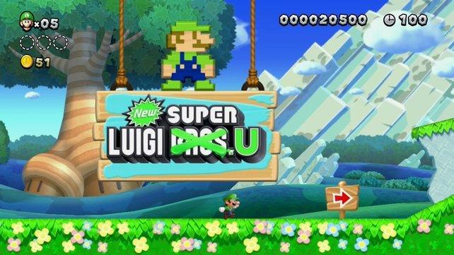 Mario darf mal Pause machen - jetzt ist Bruder Luigi dran.