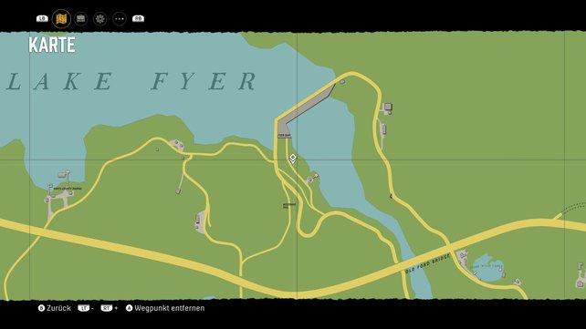 Fundort der Telefonzelle im Norden bei Lake Fyer.